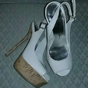 Worn with flaws platform slingback heels
